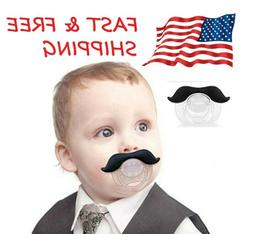 1/2 Pack Durable Funny Mustache Baby Pacifier Orthodontic fo