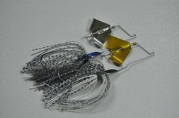 1/8 oz Baby Buzzbait Gold Blade Top Water Lure for Bass.