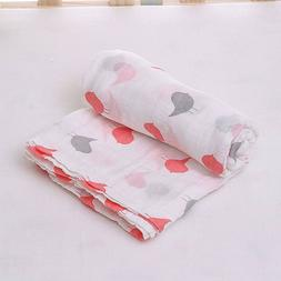 100% Organic Cotton Muslin Swaddle Blanket - New Design for