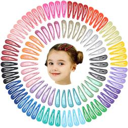 100pcs 2 Inch Hair Clips No Slip Metal Hair Clips Snap Barre