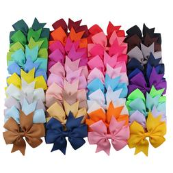 10pcs/lot Grosgrain Ribbon Hair Bow with Clip <font><b>Girls