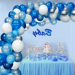 117Pcs Blue Balloons Decorations Garland Arch Kit For Baby S