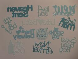 12 new baby boy words for greeting card die cuts scrapbook d