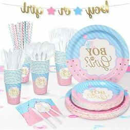 194 Pcs Gender Reveal Party Supplies for Baby Gender Reveal