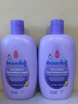 2 Packs Johnson's Baby Bedtime Bubble Bath and Wash 15 fl oz