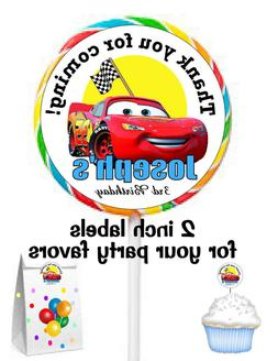 20 DISNEY CARS BIRTHDAY PARTY FAVORS STICKERS LABELS for lol