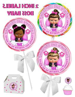 20 GIRL BOSS BABY BIRTHDAY PARTY FAVORS LOLLIPOP LABELS STIC