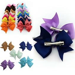 20 pcs Baby Girls Hair Bows For Kids Hair Bands Alligator Ha