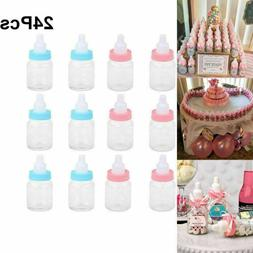 24 Fillable Bottles for Baby Shower Favors Blue Pink Party D