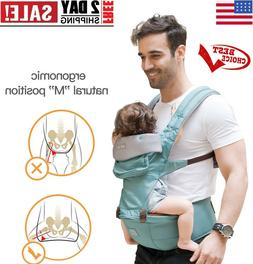 360 Ergonomic Baby Carrier with Hip Seat - Baby Backpack Car