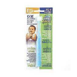 Brilliant Baby Toothbrush by Baby Buddy - For Ages 4-24 Mont