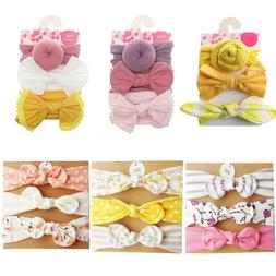 3Pcs Bowknot Elastic Head Bands For Baby Girls Headband Baby
