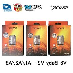 3x SMOK² TFV8 Baby V2 Mesh Coils² V2-A1/A2/A3 for Species