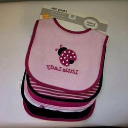 Luvable Friends 5 Baby Bibs For Baby Girl Assorted Colors Co