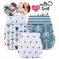 5-Pack Baby Burp Cloths For Boys And Girls, 100% Organic Cot