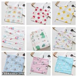 6-layer gauze muslin cotton washcloths towels for baby 30x30