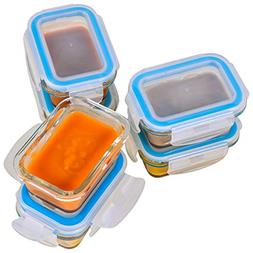 Elacra  Glass Baby Food Storage Containers - Small Glass Con