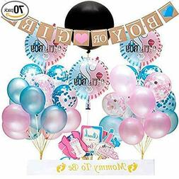 70 pc BABY GENDER REVEAL Complete Party Supplies Decorations