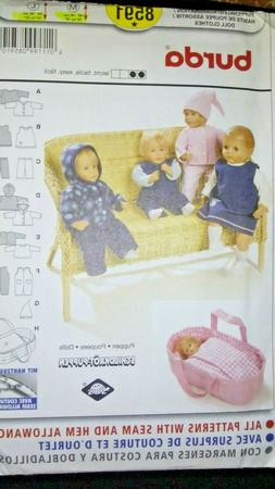 """BURDA 8591, BABY DOLL CLOTHES FOR 16"""" TO 18"""" AND 20"""" TO 22"""""""