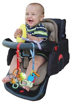 Baby Buddy Secure-A-Toy, Safety Strap Secures Toys, Teether,