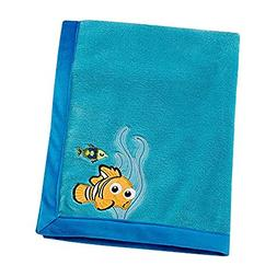 Disney Finding Nemo Appliqued Coral Fleece Blanket, Blue