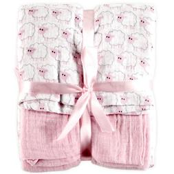 Hudson Baby 2 Count Muslin Swaddle Blanket, Pink