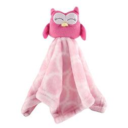 Hudson Baby Animal Friend Plushy Security Blanket, Pink Owl
