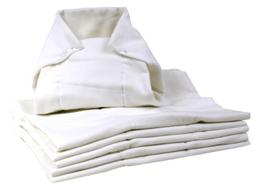 Kushies Washable Pre-folded Diapers, White