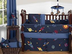 Sweet Jojo Designs 9-Piece Space Galaxy Rocket Ship, Planet,