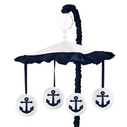 Sweet Jojo Designs Anchors Away Nautical Navy and White Musi