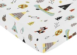 Sweet Jojo Designs Fitted Crib Sheet for Outdoor Adventure B