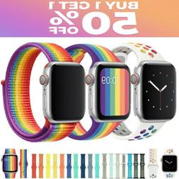 For Apple Watch Nylon Silicone Sports Strap Band Series 5/4/