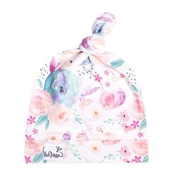"""Baby Beanie Hat Top Knot Stretchy Soft for Girl """"Bloom"""" by C"""