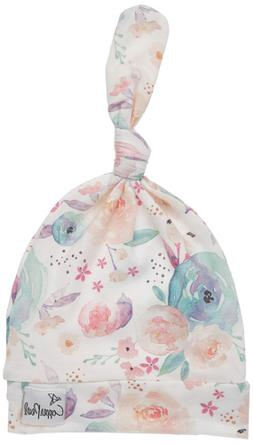 """Baby Beanie Hat Top Knot Stretchy Soft for Girl""""Bloom"""" by Co"""