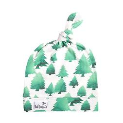 """Baby Beanie Hat Top Knot Stretchy Soft for Boy""""Forest"""" by Co"""