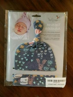 "Baby Beanie Hat Top Knot Stretchy Soft for Girl ""Meadow"" by"