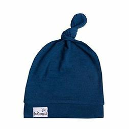 """Baby Beanie Hat Top Knot Stretchy Soft for Boy or Girl """"Rive"""