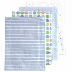 Baby Bedding For Boys Flannel Receiving Blankets Blue 4 Coun