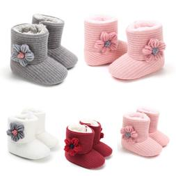 Baby Boy Girl Boots Shoes Newborn Infant Winter Warm Soft fo