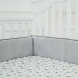 Tillyou Baby Breathable Crib Bumper Pads For Standard Cribs