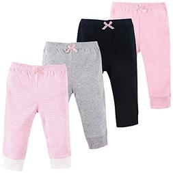 Luvable Friends Baby Cotton Tapered Ankle Pants, Pink Stripe