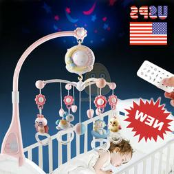 Baby Crib Mobile with Lights and Music Remote Toy for Pack a