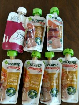Sprout Baby Food Stage 3 Beef Chicken 7 Pouches Organic