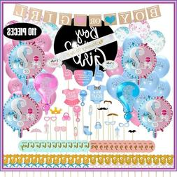 Baby Gender Reveal Party Supplies Kit - Updated Version -  +