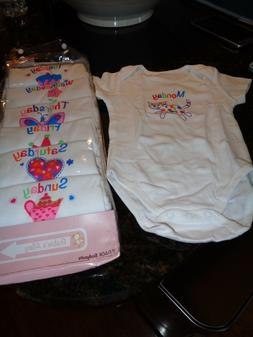 BABY GIRL ONSIES FOR EVERYDAY OF THE WEEK SIZE 0-3 MONTHS NE