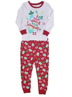 Baby Girl Red Pink All I Want For Christmas Pant Set Sleeper