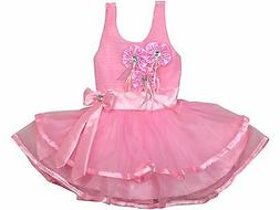 Baby Girls Dress Pink Rose Bow Tie Belt Wedding Party for 3
