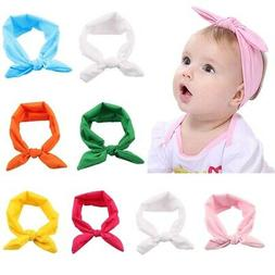 Baby Headbands Turban Knotted, Girl's Bow Hairband for Newbo