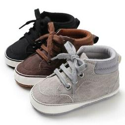 Baby Infant Boys Shoes First Walkers For Newborn Soft Non-Sl