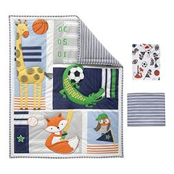 Bedtime Originals Baby League Sports Animals 3 Piece Crib Be